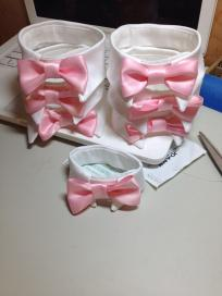 "Just imagine...you, your sphynx, your dog, and your boyfriend all going to the opera in matching bow tie ""collars"""